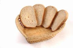 Mand met brood Stock Foto