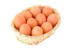 Mand met eieren Stock Afbeelding