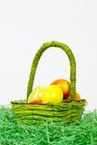 Mand met eieren Stock Fotografie