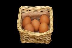 Mand met eieren Royalty-vrije Stock Afbeelding
