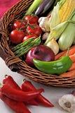 Mand met groenten Royalty-vrije Stock Fotografie