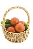 Mand met groenten. Stock Foto's