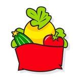 Mand met groenten royalty-vrije illustratie