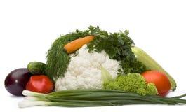 Mand met groenten Stock Afbeelding