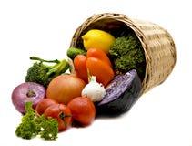 Mand met groenten Royalty-vrije Stock Foto's