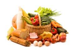 Mand met voedsel Stock Foto