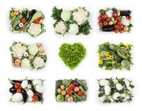 Mand van de groenten de hoogste mening met geïsoleerde de sla van de hartvorm Stock Afbeelding