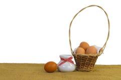 Mand van eieren Royalty-vrije Stock Foto's