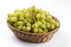 Mand van witte druiven royalty-vrije stock afbeeldingen