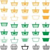 Mand verschillende kleur - vastgestelde pictogrammen Stock Foto