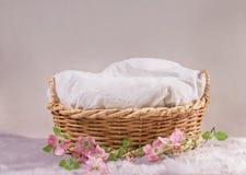 Mand voor baby met bloemen royalty-vrije stock afbeelding