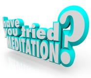 Manda você palavras tentadas da meditação 3d meditar a paz interna Fotografia de Stock Royalty Free