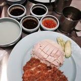 Manda você tentar ainda o alimento tailandês do estilo tailandês? Fotografia de Stock