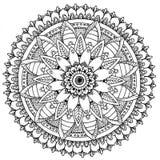 Mandala à colorer illustration libre de droits