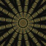 Mandala égyptien de kaléidoscope Image libre de droits