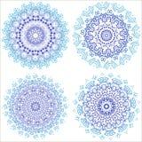 mandala Éléments décoratifs de cru Fond tiré par la main L'Islam, l'arabe, Indien, motifs de tabouret Ensemble rond d'ornement gé Photo libre de droits