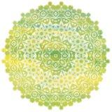 mandala Éléments décoratifs de cru Manadala tiré par la main d'aquarelle L'Islam, l'arabe, Indien, motifs de tabouret Photographie stock libre de droits