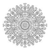 Mandala étnica bonita Teste padrão redondo do ornamento do vetor ilustração royalty free
