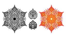 Mandala étnica com ornamento colorido Fotografia de Stock Royalty Free