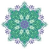 Mandala étnica con el ornamento colorido ilustración del vector