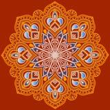 Mandala étnica floral Imágenes de archivo libres de regalías