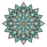 Mandala ή κυκλικό συμμετρικό σχέδιο Στοκ Εικόνα