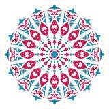 Mandala ή κυκλικό floral σχέδιο Στοκ Φωτογραφία