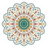Mandala ή κυκλικό floral σχέδιο Στοκ Φωτογραφίες