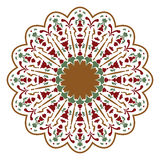 Mandala ή κυκλικό floral σχέδιο Στοκ φωτογραφία με δικαίωμα ελεύθερης χρήσης