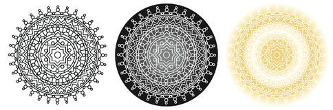 Mandala γεωμετρίας με το αστέρι στο κέντρο για το χρωματισμό του βιβλίου και του σχεδίου σας κύκλος προτύπων Στοκ φωτογραφία με δικαίωμα ελεύθερης χρήσης