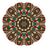 Mandala για την τέχνη, τον ενήλικο και τα παιδιά που χρωματίζουν το βιβλίο, zendoodle Το χέρι που σύρεται γύρω από zentangle μπορ Στοκ Φωτογραφία
