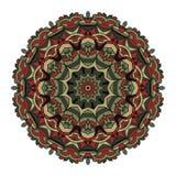 Mandala για την τέχνη, τον ενήλικο και τα παιδιά που χρωματίζουν το βιβλίο, zendoodle Το χέρι που σύρεται γύρω από zentangle μπορ Στοκ Φωτογραφίες