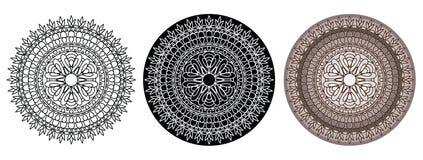 Mandala για το χρωματισμό του βιβλίου και του σχεδίου σας κύκλος προτύπων Στοκ Φωτογραφίες