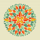 Mandala γιόγκας φύλλων Στοκ φωτογραφίες με δικαίωμα ελεύθερης χρήσης