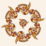 mandala Δημιουργική κυκλική διακόσμηση Στοκ εικόνα με δικαίωμα ελεύθερης χρήσης