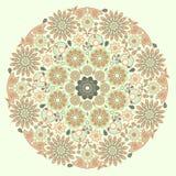mandala Διακοσμητικό στρογγυλό εθνικό σχέδιο - ιερή γεωμετρία Διανυσματική τυπωμένη ύλη Στοκ Εικόνες