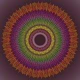 mandala Διακοσμητικό στρογγυλό σχέδιο δαντελλών - ιερή γεωμετρία Διανυσματική τυπωμένη ύλη Στοκ Εικόνες