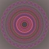 mandala Διακοσμητικό στρογγυλό σχέδιο δαντελλών - ιερή γεωμετρία Διανυσματική τυπωμένη ύλη Στοκ εικόνα με δικαίωμα ελεύθερης χρήσης