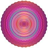 mandala Διακοσμητικό στρογγυλό σχέδιο - ιερή γεωμετρία Διανυσματική τυπωμένη ύλη Στοκ Εικόνα