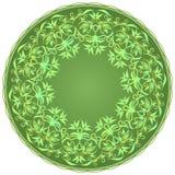 mandala Διακοσμητικό στρογγυλό σχέδιο με τα φύλλα Διανυσματική τυπωμένη ύλη Στοκ εικόνες με δικαίωμα ελεύθερης χρήσης