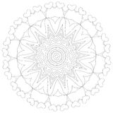 mandala Εθνικά διακοσμητικά στοιχεία διακοσμητικός τρύγος στ&o Ασιατική απεικόνιση σχεδίων Ισλάμ, Αραβικά, Ινδός, Τούρκος, π Στοκ Εικόνα