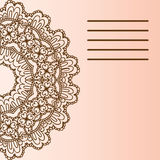 Mandala διακοσμήσεων Γεωμετρικό στοιχείο κύκλων που γίνεται στο διάνυσμα Τέλειες κάρτες για οποιοδήποτε άλλοδήποτε είδος σχεδίου, Στοκ φωτογραφία με δικαίωμα ελεύθερης χρήσης