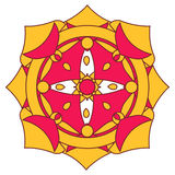 mandala διακοσμητικό Στοκ εικόνες με δικαίωμα ελεύθερης χρήσης