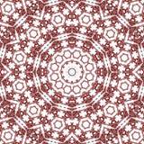 Mandala κεραμιδιών στην κόκκινη και καστανόξανθη κεντητική επίδρασης χρωμάτων λιμένων arabesque Στοκ εικόνες με δικαίωμα ελεύθερης χρήσης