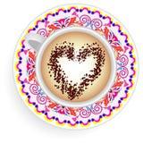 Mandala κουπών καφέ ελεύθερη απεικόνιση δικαιώματος