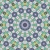 Mandala κύκλων στο κιρκίρι και το μπλε απεικόνιση αποθεμάτων