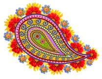 Mandala ματιών του απομονωμένου floral Βούδα Στοκ Εικόνες