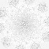 Mandala με τα ιερά σύμβολα και τα στοιχεία γεωμετρίας Στοκ φωτογραφία με δικαίωμα ελεύθερης χρήσης