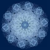 Mandala με τα ιερά σύμβολα και τα στοιχεία γεωμετρίας Στοκ εικόνες με δικαίωμα ελεύθερης χρήσης