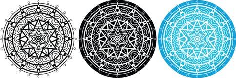 Mandala με το αστέρι του Δαυίδ στο κέντρο Στοκ εικόνα με δικαίωμα ελεύθερης χρήσης